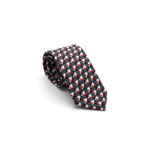 luxury linen tie Eclipse designed by Niki Fulton Scotland