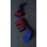 blue silk tie by Niki Fulton