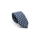Blue Eclipse linen neck tie by Niki Fulton Scotland