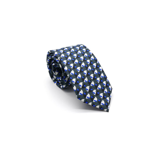 Blue Eclipse linen tie by Niki Fulton Scotland