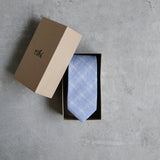 Prufrock blue Linen Tie by Niki Fulton in Scotland