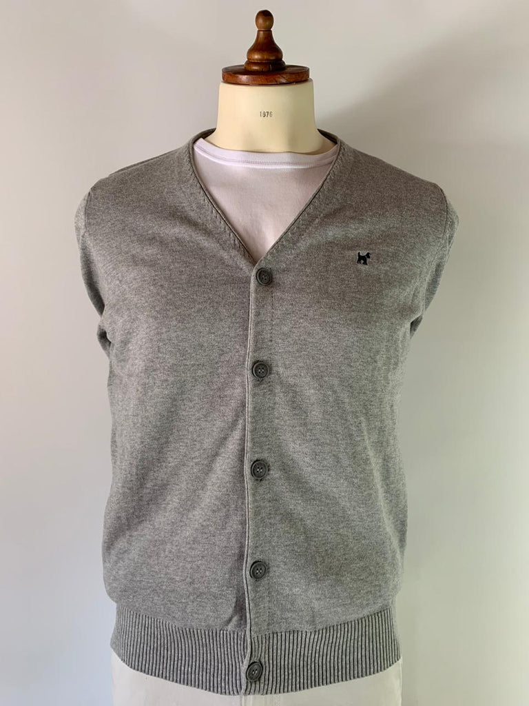 Sweater Cardigan Gris