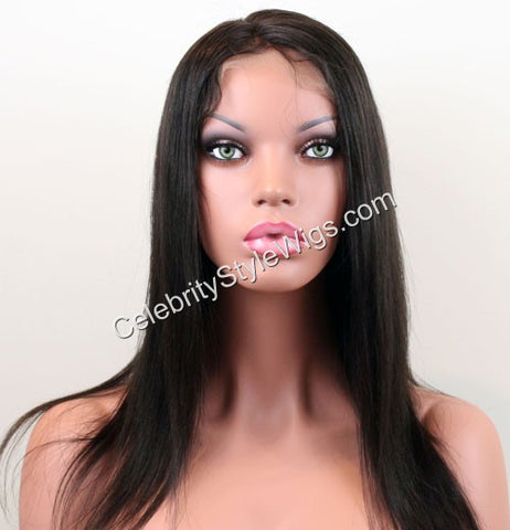 "14"" Inventory Stock Full Lace Wig Light Yaki - Celebrity Style Wigs"