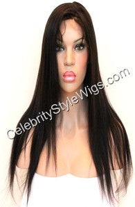 "18"" Inventory Stock Full Lace Wig Light Yaki - Celebrity Style Wigs"