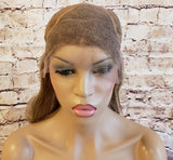 "In Stock Tyra Banks Inspired Mongolian Remy Lace Front Wig 12"" Hair Color 8/9 - SHIPS in 1-2 DAYS - Celebrity Style Wigs"