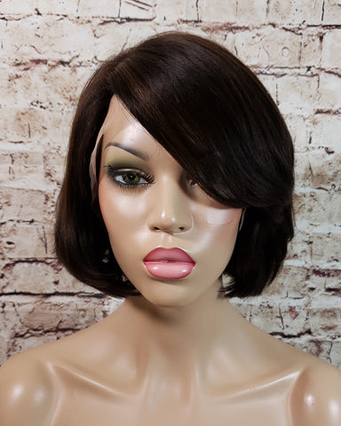In Stock Full Lace Wig Lisa Premium Bob Cut