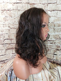 "In Stock 16"" Cara Brazilian Remy Lace Front Wig in Versatile Straight and Curly Ships in 1-2 Days"