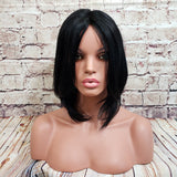 "10"" In Stock Glueless Asian Remy Full Lace Wig Cap No 17 Straight #1 Jet Black Ships 1-2 Days"