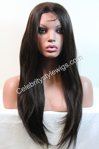 "20"" Inventory Stock Full Lace Wig Light Yaki - Celebrity Style Wigs"