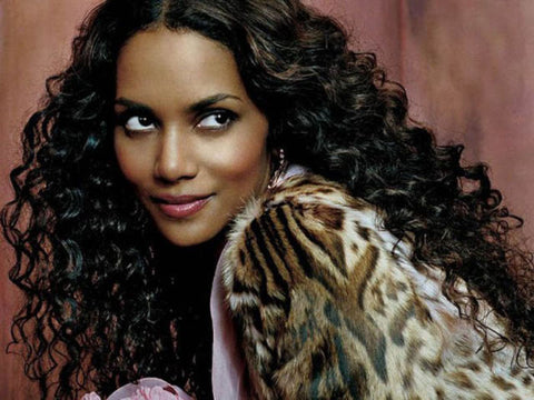Halle Berry Inspired Tight Silky Curly Full Lace Wig - Celebrity Style Wigs