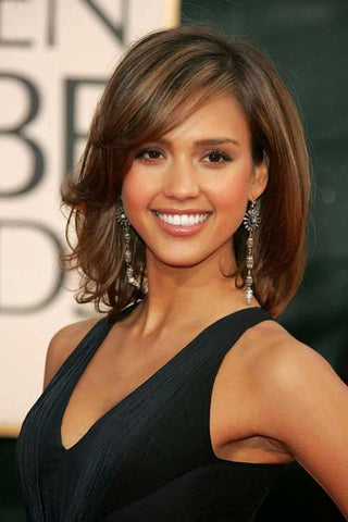 Jessica Alba Inspired Full Lace Wig with Premium Celebrity Cut - Celebrity Style Wigs