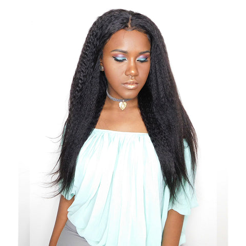 "18"" Inventory Stock Full Lace Wig in Kinky Straight"