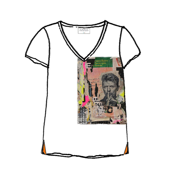 tee shirt V David Bowie by Laurent Durrey