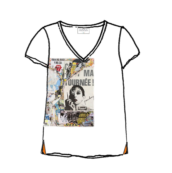 tee shirt V Serge Gainsbourg by Laurent Durrey