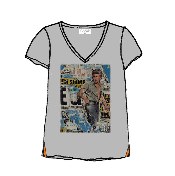 tee shirt V James Dean by Laurent Durrey