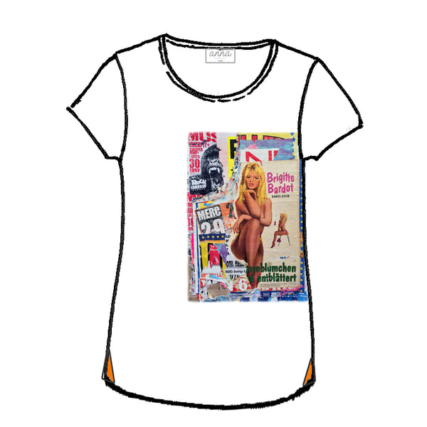 tee shirt Brigitte Bardot by Laurent Durrey