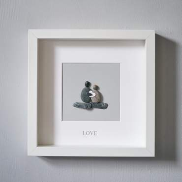 Foil Pebble Picture - Love | Two Spotty Dogs