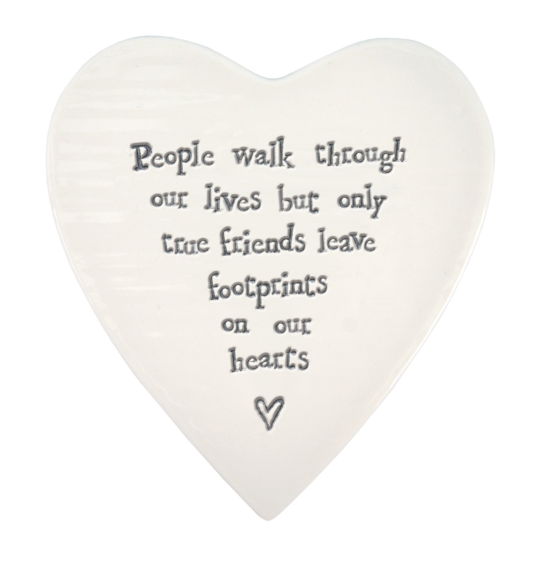 People Walk Through Our Lives... Porcelain Heart Coaster - East of India 88