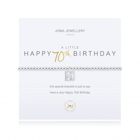 Joma Jewellery A Little Happy 70th Birthday Bracelet - 2672