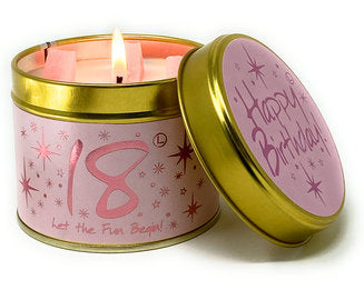 Happy 18th Birthday - Scented Candle by Lily Flame