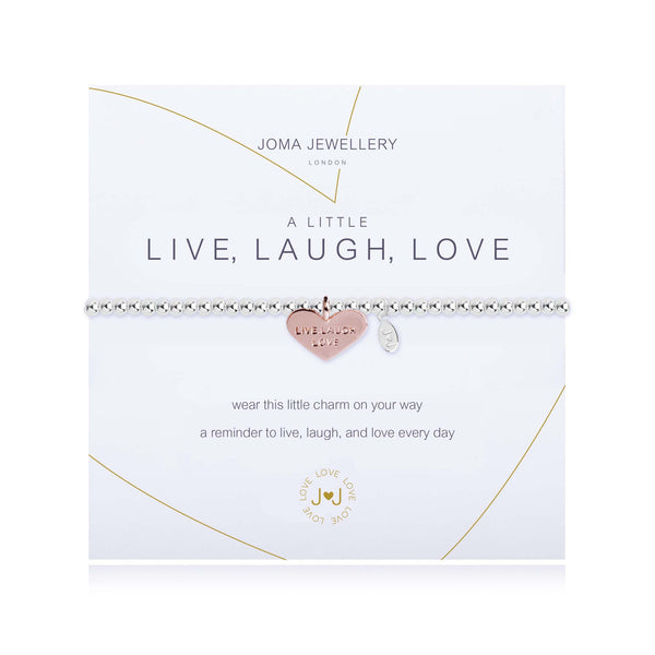Joma Jewellery A Little Live , Laugh, Love Bracelet 1824