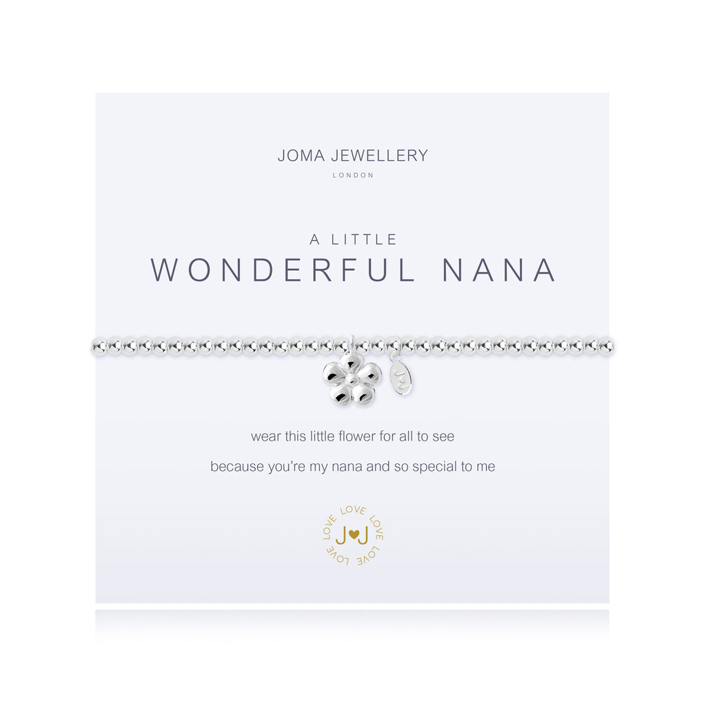 'A Little' wonderful Nana - beaded bracelet by Joma Jewellery - 2639 - Two Spotty Dogs