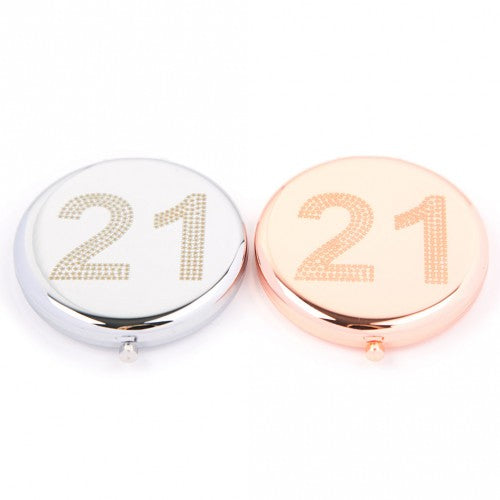 21st Compact Mirror (Silver Colour) by Love The Links - Two Spotty Dogs