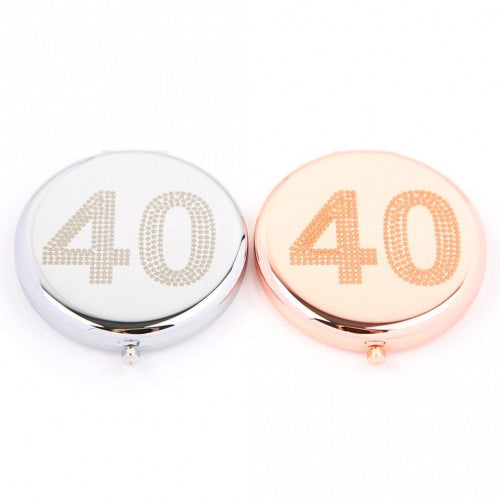 40th Compact Mirror (Silver Colour) by Love The Links