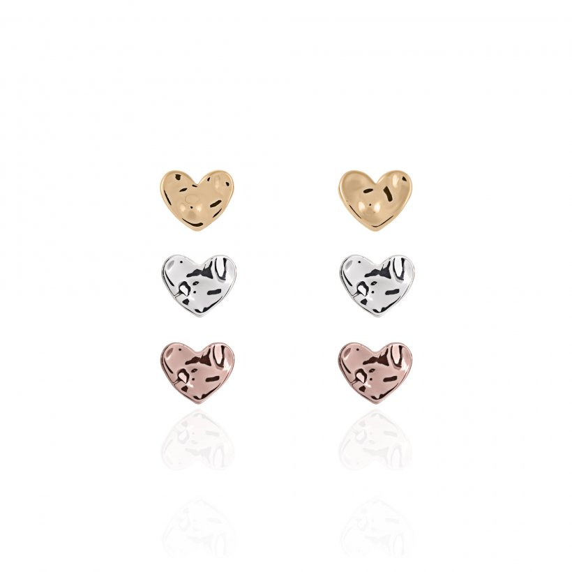 Florence Hammered Heart Earring Set by Joma Jewellery