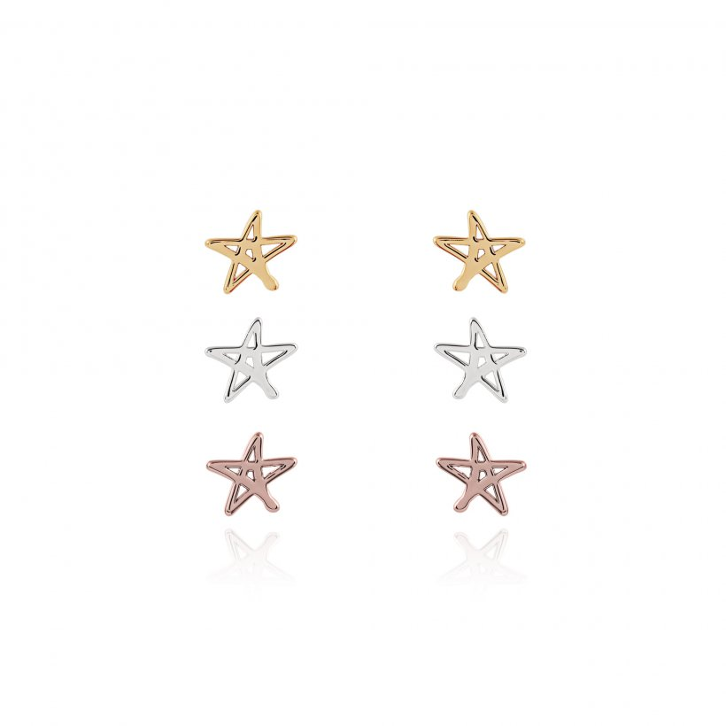Florence Outline Star Earring Set by Joma Jewellery