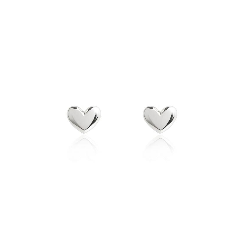 Lila Heart Stud Earings by Joma - Reduced