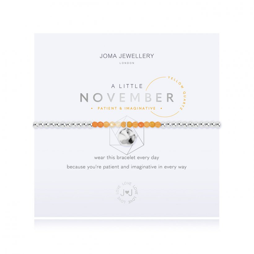 A Little Birthstone November Yellow Quartz Bracelet by Joma Jewellery