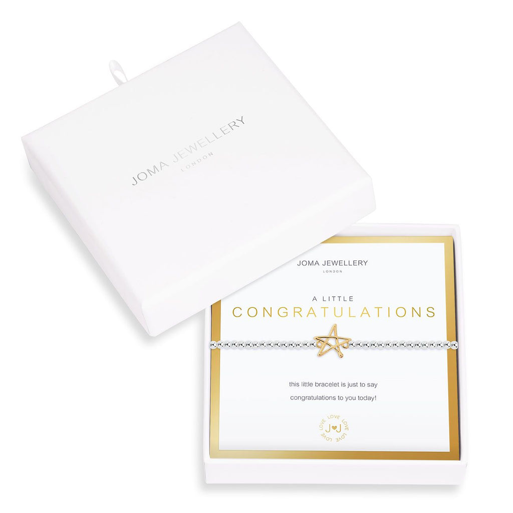 "A Little "" Congratulations"" - Boxed Bracelet by Joma Jewellery"