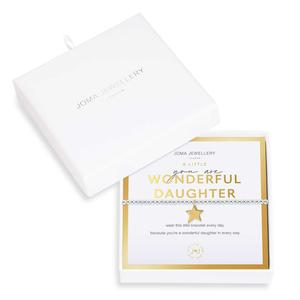 Beautifully Boxed You Are Wonderful Daughter Bracelet by Joma Jewellery