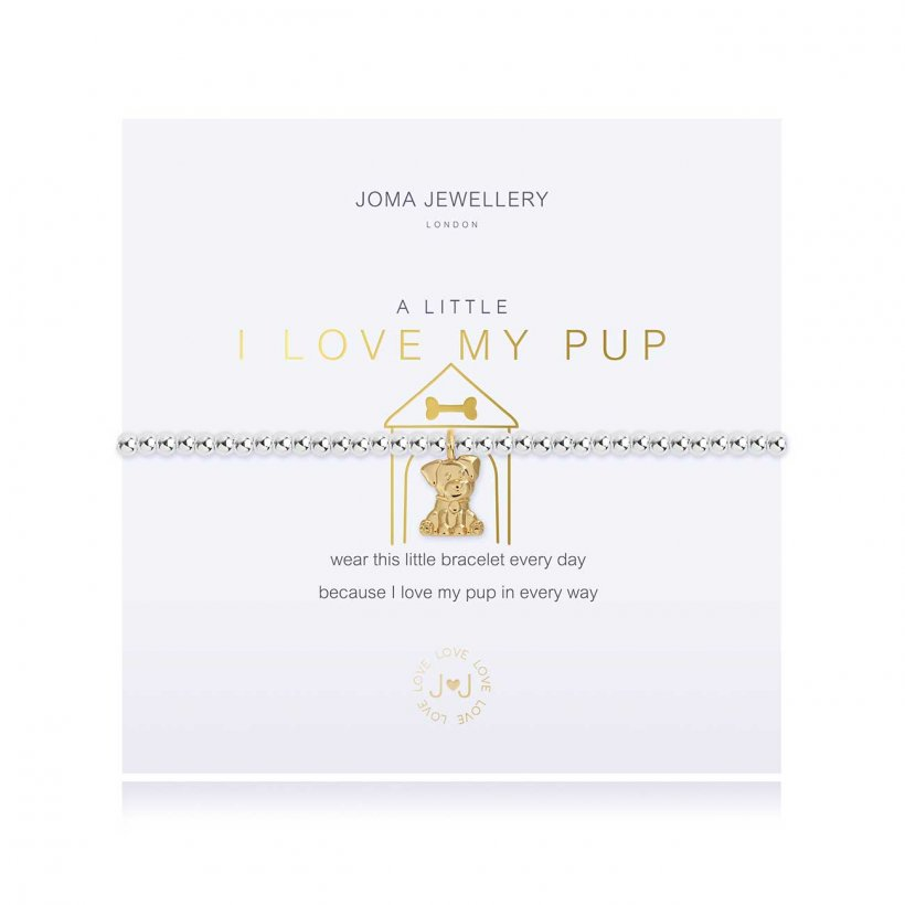 A Little I Love My Pup Bracelet by Joma Jewellery