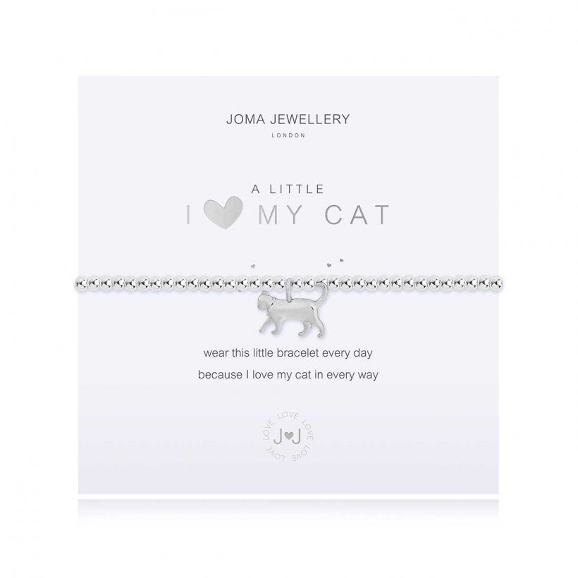 A Little I Love My Cat Bracelet by Joma Jewellery