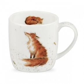 Royal Worcester Wrendale Designs The Artful Poacher Fox Mug