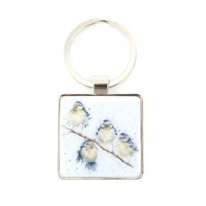 Hanging out with Friends Birds Keyring - Wrendale Designs