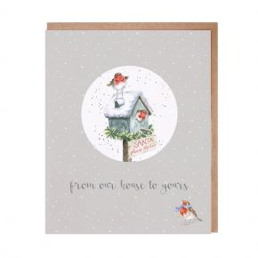 'Our House to Yours' Decoration Christmas Card by Wrendale Designs