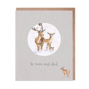Mum and Dad Christmas Greetings Card by Wrendale Designs