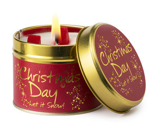 Christmas Day Tinned Candle by Lily-Flame