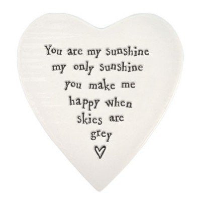 East of India Porcelain Coaster - You are my Sunshine 117