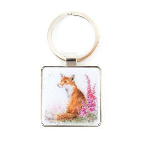 Foxgloves Keyring by Hannah Dale - Wrendale Designs - Fox