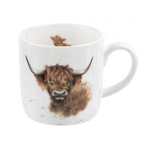 Royal Worcester Wrendale Designs Highland Cow Mug