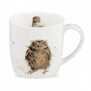 Royal Worcester Wrendale Designs What a Hoot Owl Mug