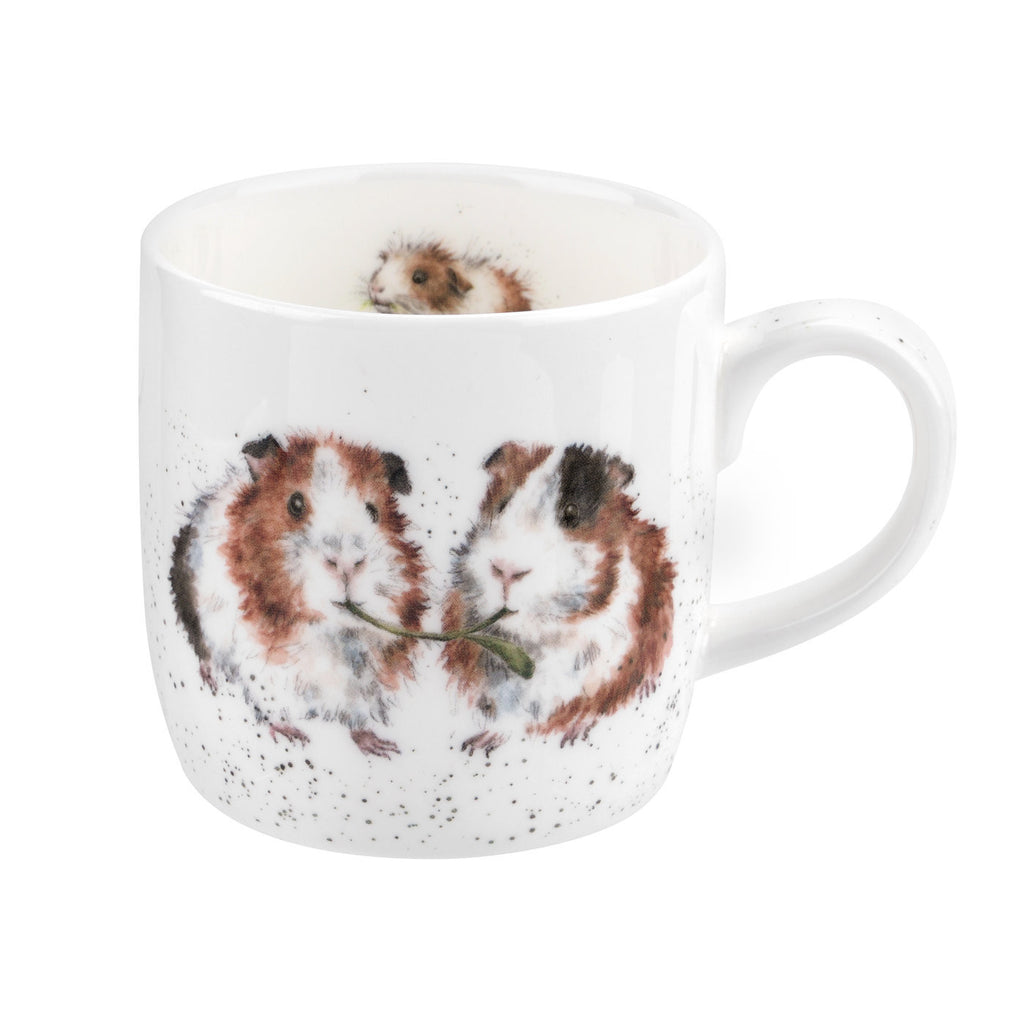 Royal Worcester Wrendale Designs Lettuce be Friends Guinea Pig Mug