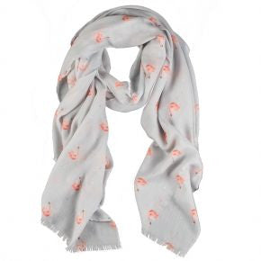 Wrendale Designs Pink Lady Flamingo Scarf - SCF006