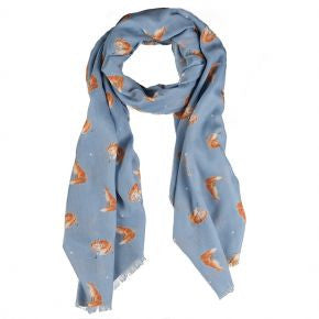 Wrendale Designs The Artful Poacher Fox Scarf - SCF002