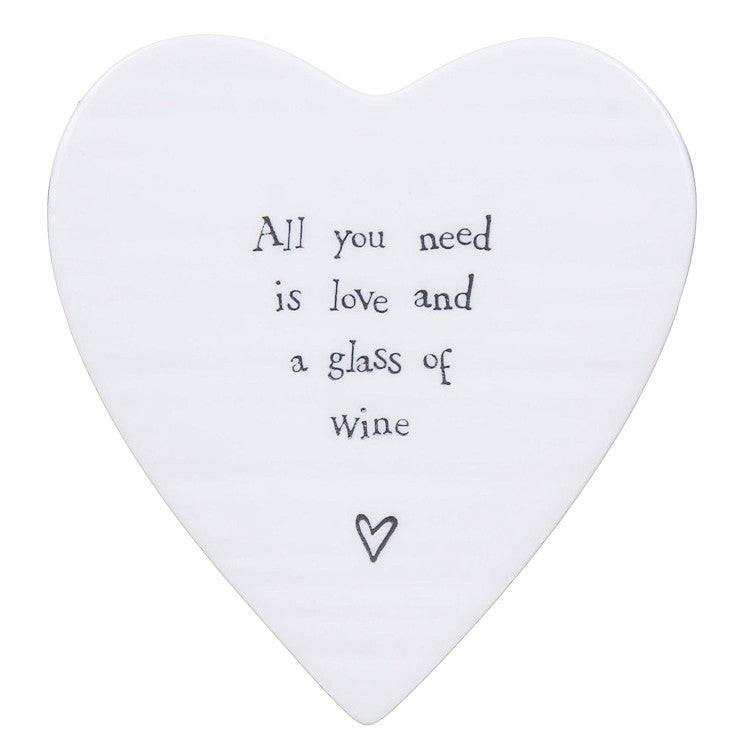 East of India Porcelain Coaster- All you need is love...    122