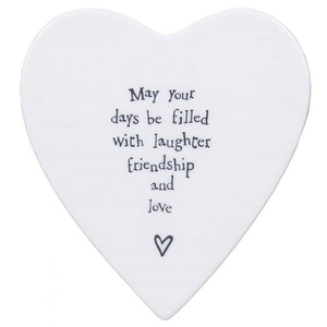 East of India Porcelain Coaster - May your Days....     123